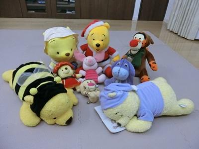ぬいぐるみ ディズニー プーさんファミリー(プー、ピグレット、ティガー、イーヨー)9体セット ディズニーグッズの画像
