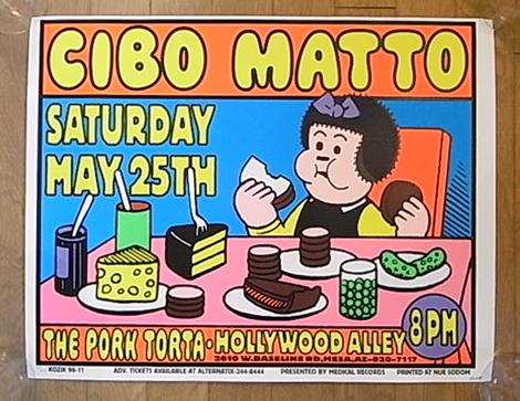 ■FRANK KOZIK限定CIBO MATTOシルクスクリーンポスター1996フランク コジック チボマット