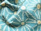 ◆正絹 古布 ハギレ 麻の葉模様の絞り 新橋色◆