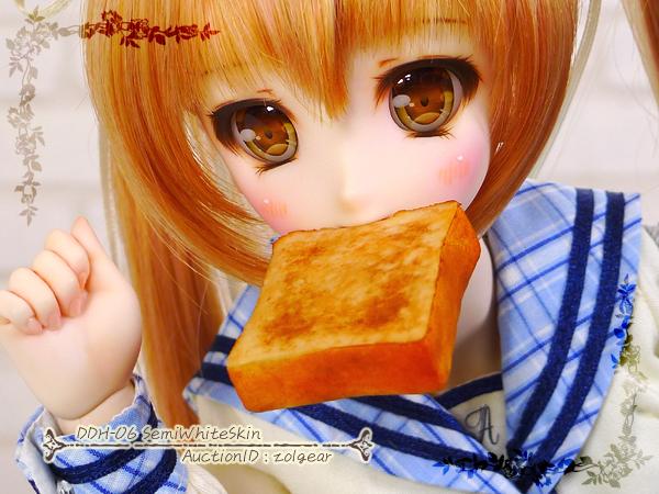 *ぞるぎや* DDH-06 セミホワイト肌 カスタムヘッド(+アイ1種+パン)