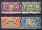 蘭領東インド(付加金)貧困者救済<1933年>(未)4種完