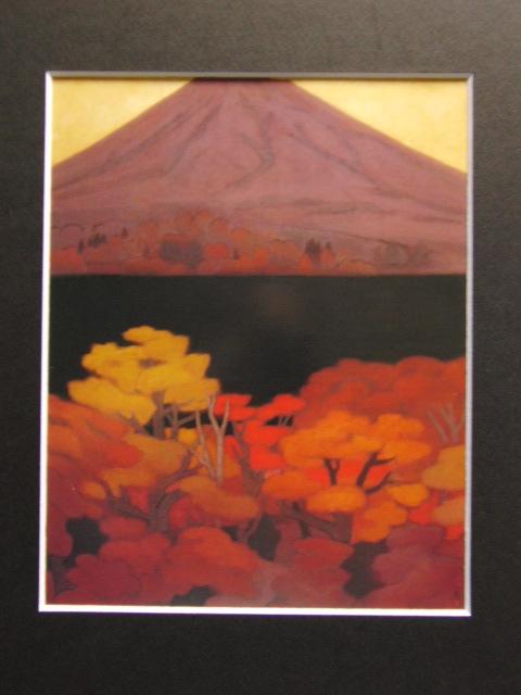 東山魁夷、『光昏』、大判・希少画集画、新品高級額装付、状態良好、送料無料、風景画_画像3