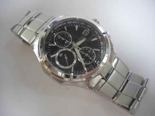 セイコー WIRED ワイヤード クロノグラフ腕時計 7T92-0JK0 中古★ろ491