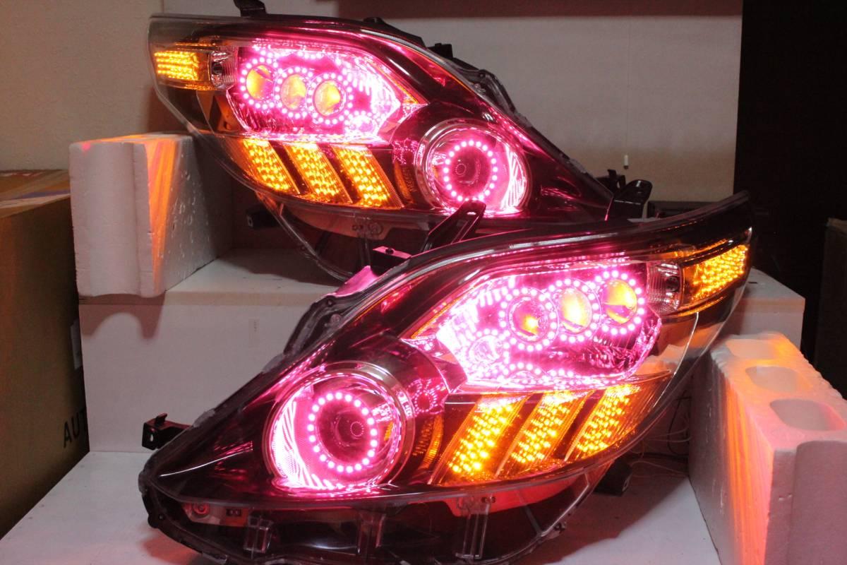 20系 アルファード ヘッドライト  RGBイカリング 流れる対応 LS600