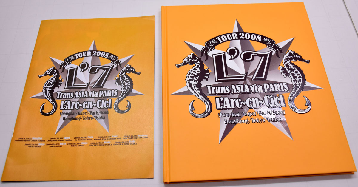 △125A/ラルク TOUR 2008 Trans ASIA via PARIS パンフレット