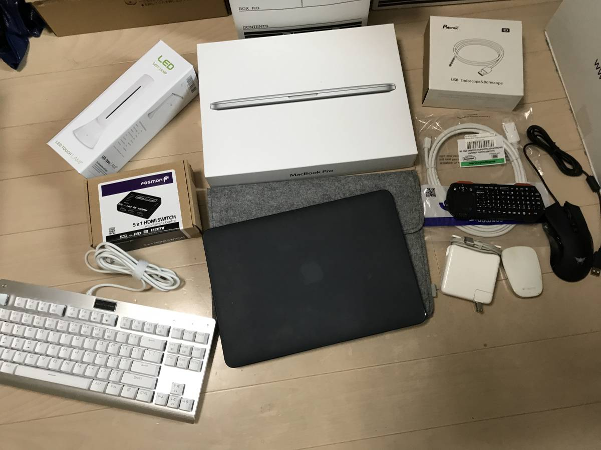 Apple MacBook Pro 13-inch Mid 2014 16GB 256GB US キー 無刻印 おまけ多数 超お得 Windows10