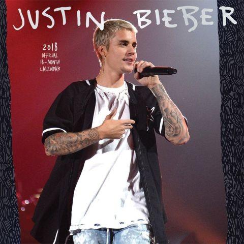 2018年 ジャスティン・ビーバー Justin Bieber ★輸入カレンダー [18X1465091815OR] 60 x30cmポスターとしても楽しめます!