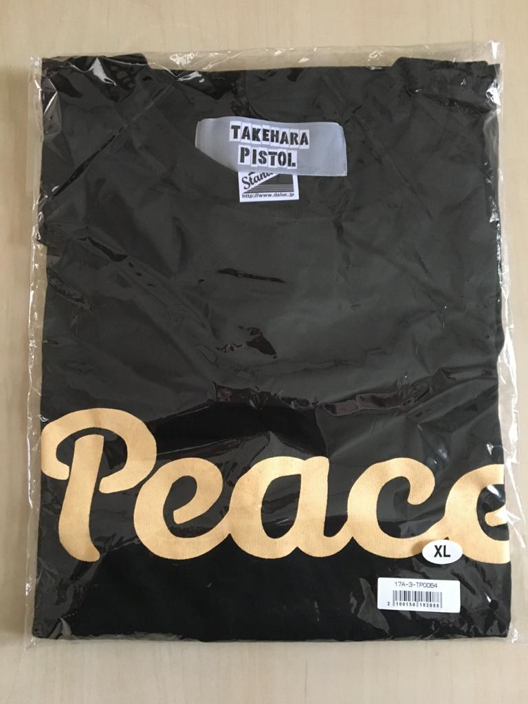 竹原ピストル☆Tシャツ☆PEACE☆新品 XL 黒色