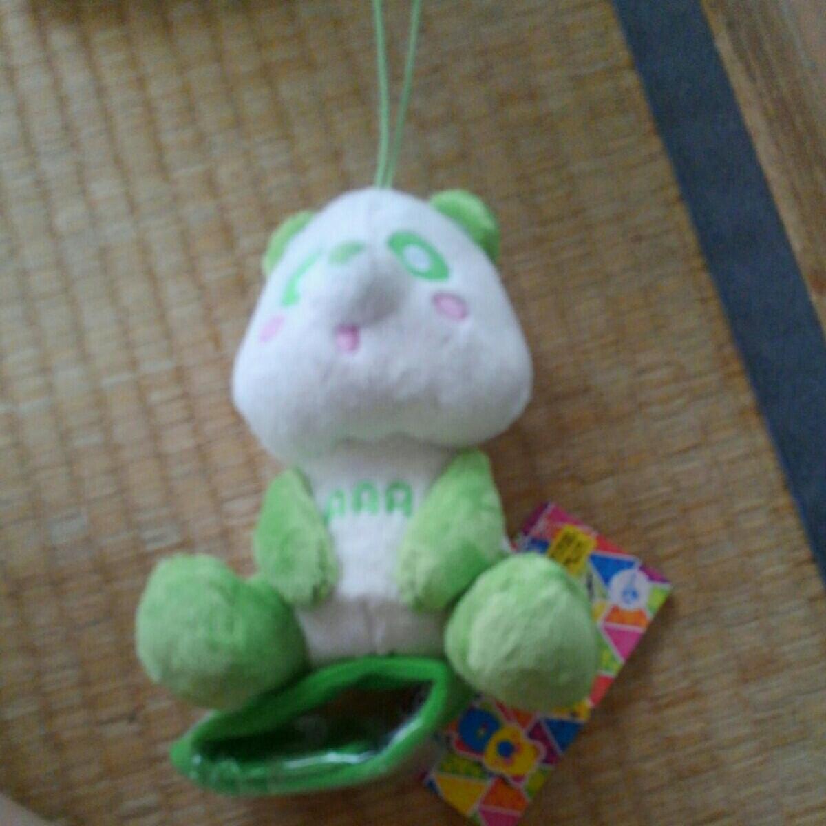 AAA え~パンダ 肩のりぬいぐるみ グリーン 緑 送料220円 新品