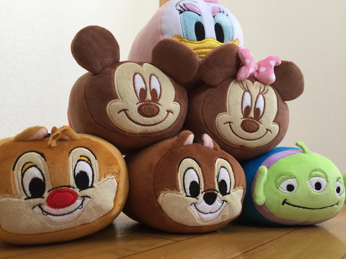 【新品】ふわふわ♪ディズニーマシュマロクッション☆6個セット☆ミッキー、ミニー、チップ、デール、デイジー、リトルグリーンメン♪ ディズニーグッズの画像