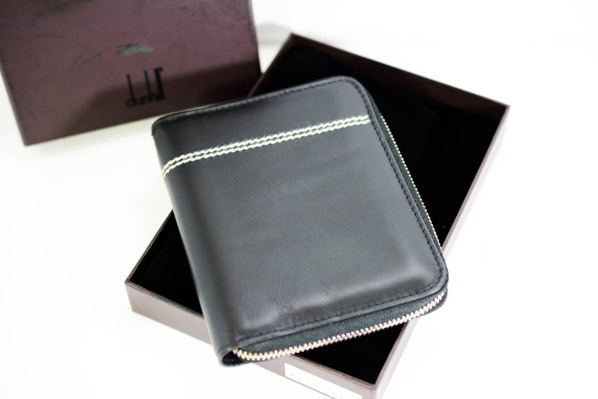 【未使用品】DUNHILL ダンヒル メンズ ラウンドファスナー 財布 レザー ブラック 正規品 本物_画像1
