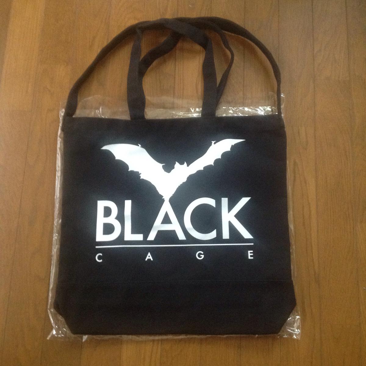 清春 黒夢 BLACK CAGE キャンバス ショルダー トートバック 大型 黒 未使用 Sads サッズ Kuroyume