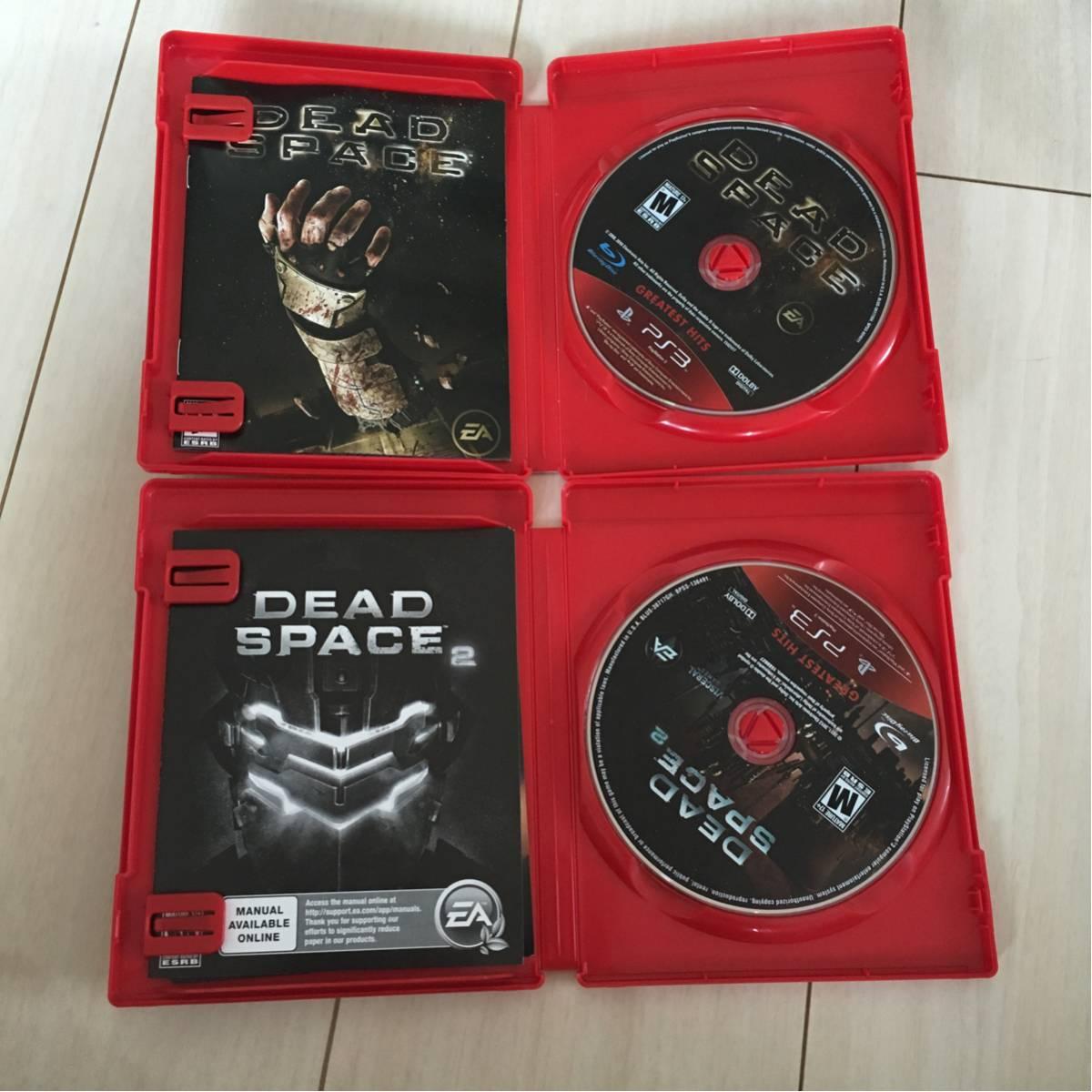 極美品 同梱可 ps3 ソフト 海外版 デッドスペース 1 2 セット DEAD SPACE 国内版ps3動作可_画像2