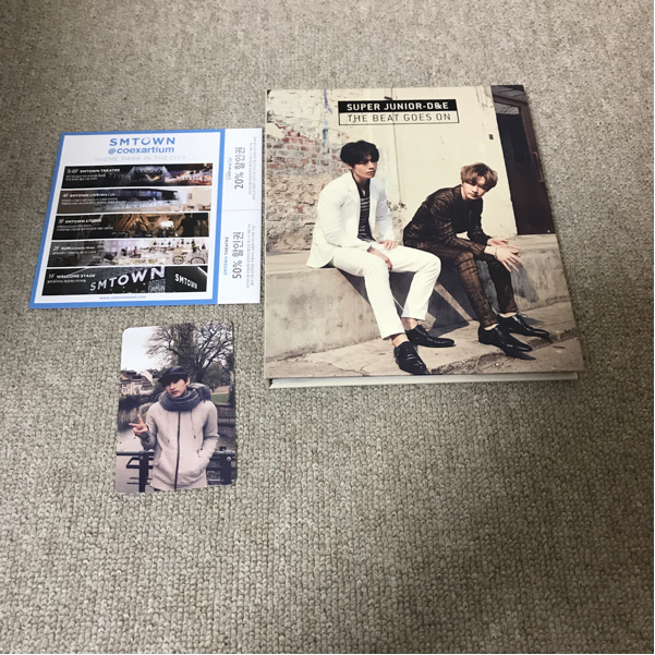 【トレカ:ウニョク】super junior d&e 韓国 cd the beat goes on
