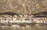 笹倉鉄平 スターアトラス 南星図 ギリシャ 港 夜景 大型版