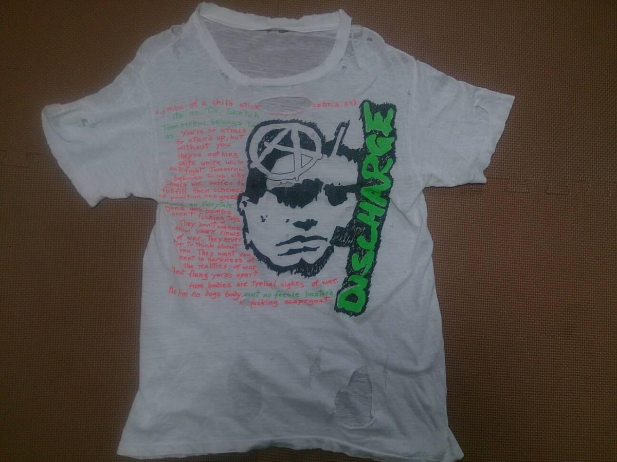 当時物 DISCHARGE ディスチャージ Tシャツ CIRCLE JERKS 7SECONDS black flag bad brains minor threat ハードコア