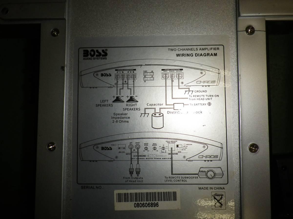 BOSSアンプ 400W 2CH CX250 美品 中古品 17クラウン カロッツェリア ウーハー_画像3