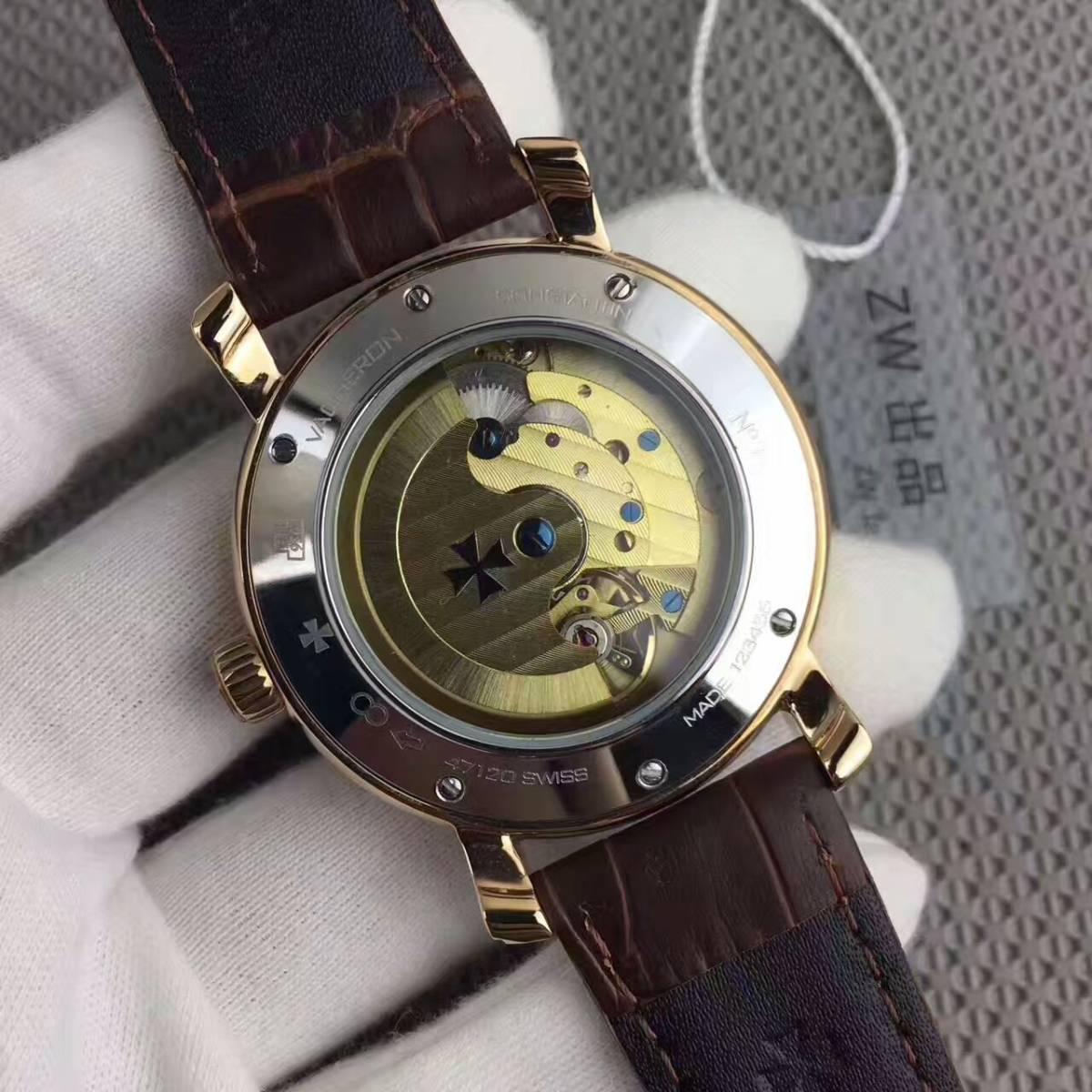 新品 ヴァシュロンコンスタンタン 高級感 男性用 腕時計 自動巻き_画像3