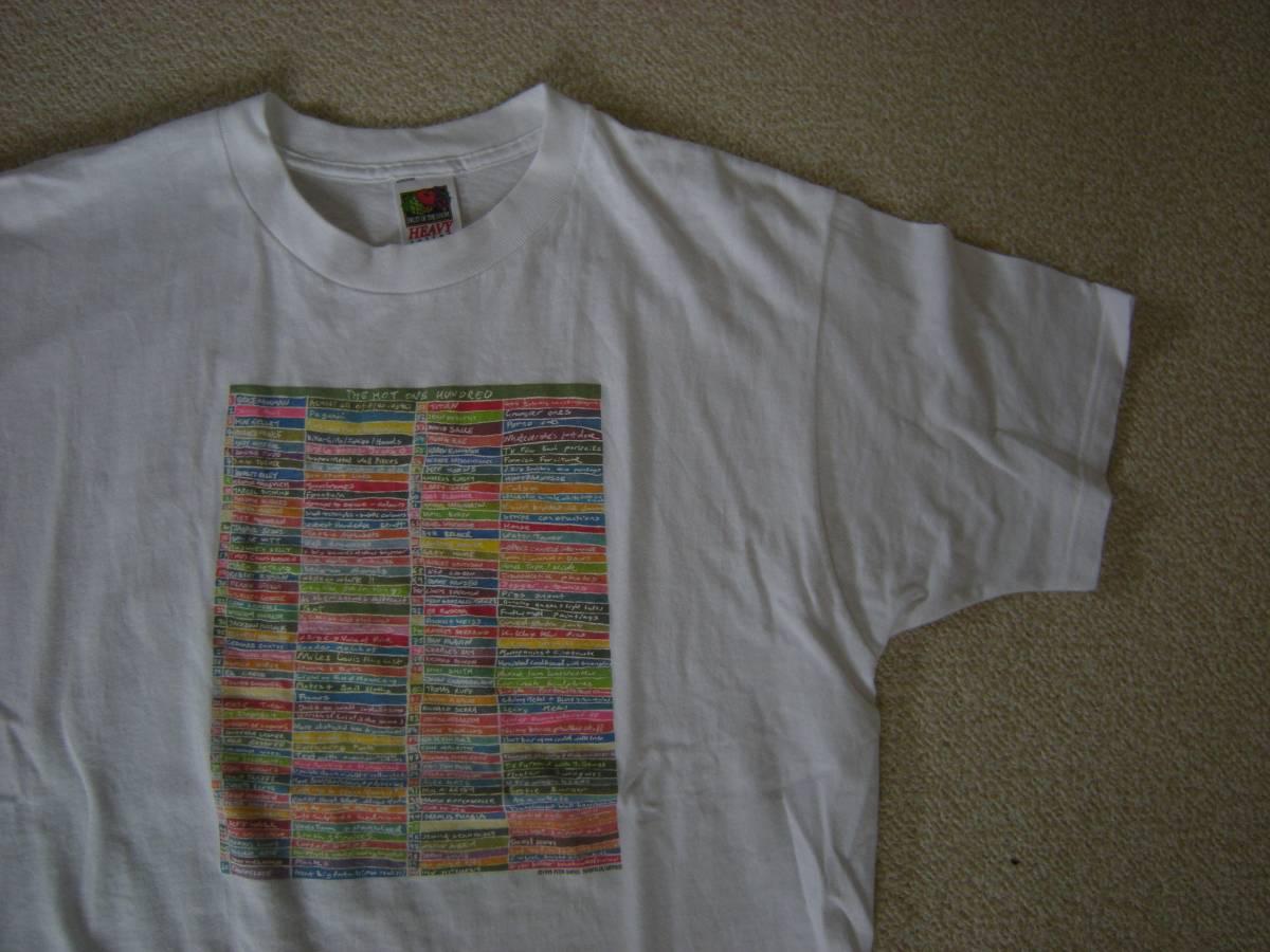 80's 90's Peter Davies ピーターデイビス アート Tシャツ Lサイズ 白/ビンテージ Brookryn美術館 現代 アート ダミアンハースト Kay Rosen ライブグッズの画像