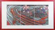 ◆立原戌基(勝原信也)◆鬼若丸と緋鯉◆復刻木版◆国芳◆武蔵坊