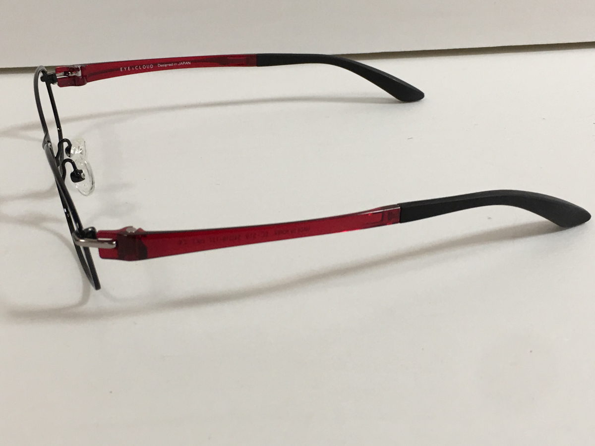 A30【未使用】展示品 EYEsCLOUD アイズクラウド メガネフレーム 眼鏡 54□16-137 EC-519 レンズなし 伊達メガネ_画像2