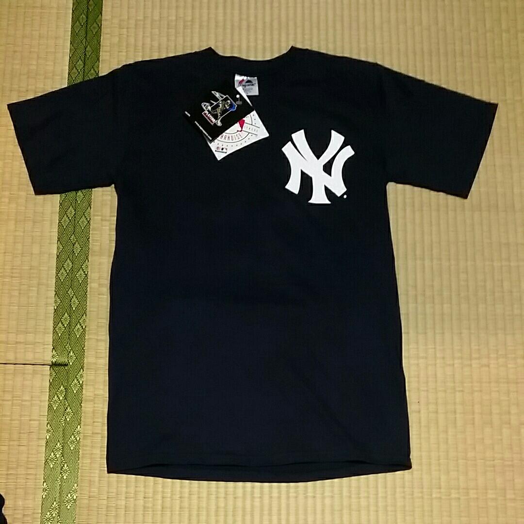 ☆新品 タグ付 マジェスティック ニューヨークヤンキース 松井秀喜 55番 ネイビー M☆  グッズの画像