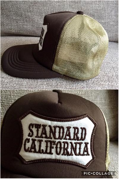 スタンダードカリフォルニア キャップ USED美品 茶×カーキ_画像2