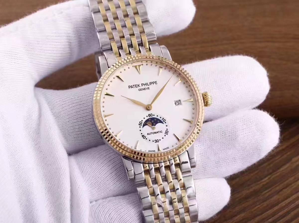 新品 パテックフィリップ Patek Philippe 男性用腕時計 メンズ 自動巻き ステンレス 白文字盤