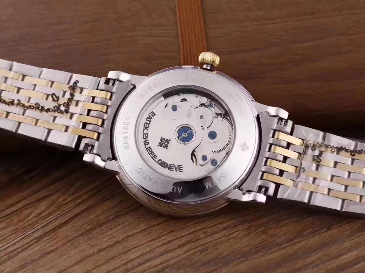 新品 パテックフィリップ Patek Philippe 男性用腕時計 メンズ 自動巻き ステンレス 白文字盤_画像3