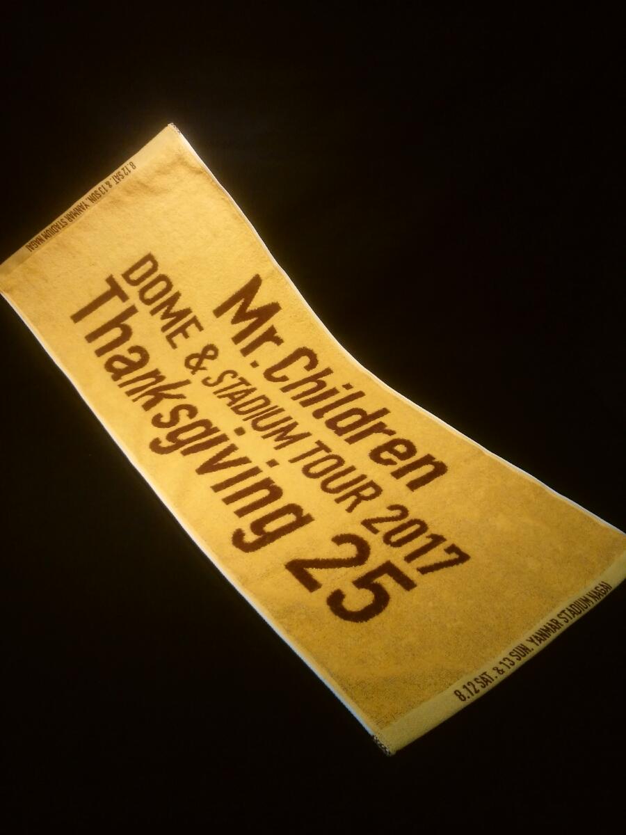 未使用 ミスチル Mr.Children ミスターチルドレン 2017 Thanksgiving25 会場限定 メモリアルフェイスタオル ヤンマースタジアム長居 大阪