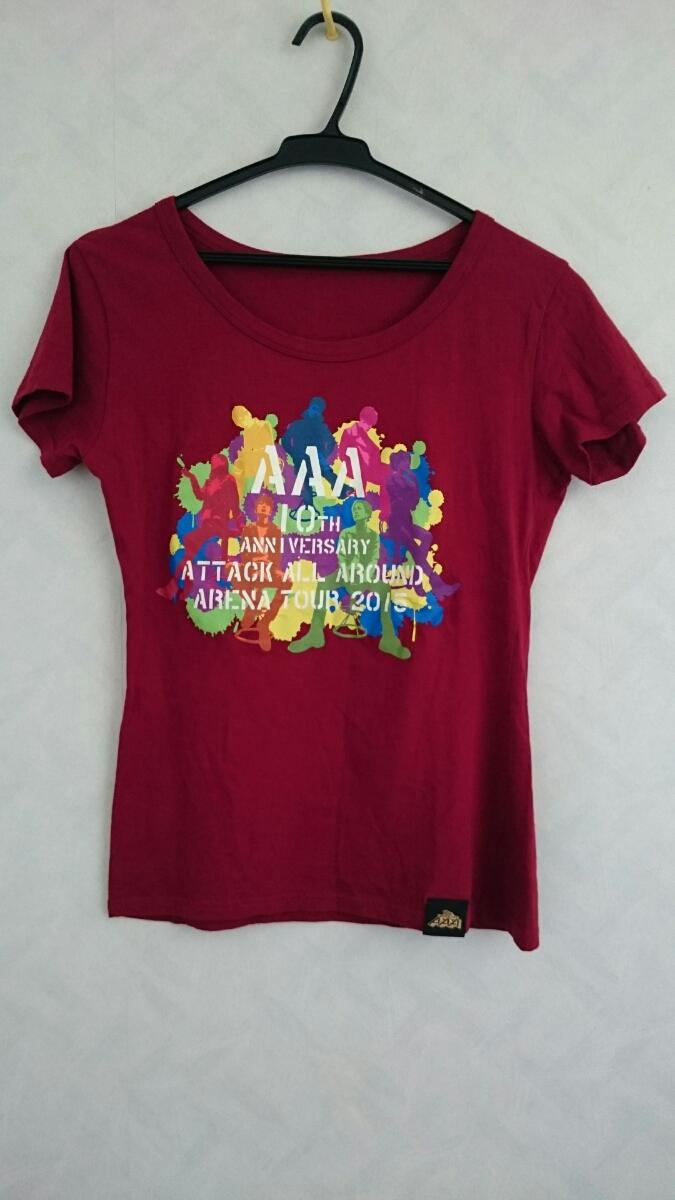 美品 AAA 10th Anniversary ATTACK ALL AROUND ARENA TOUR 2015 Tシャツ サイズLady's 西島隆弘 SKY-HI 末吉秀太  ライブグッズの画像