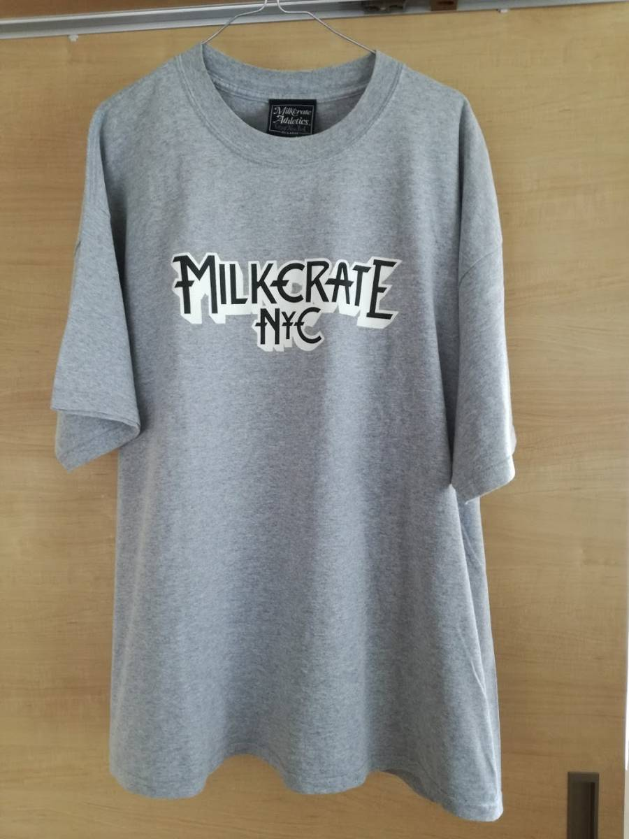 MILK CRATE Tシャツ STUSSY Supreme rap tee snoop wu-tang N.W.A. ICE-CUBE 2pac MURO Beastie fear of god Jerry Lorenz NYC kanye コンサートグッズの画像
