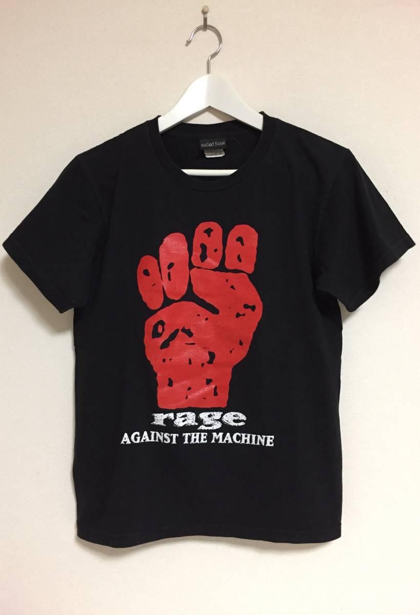 【貴重】★wall of fame レイジ アゲインスト ザ マシーン Rage Against the Machine 半袖 Tシャツ サイズM 黒 USED
