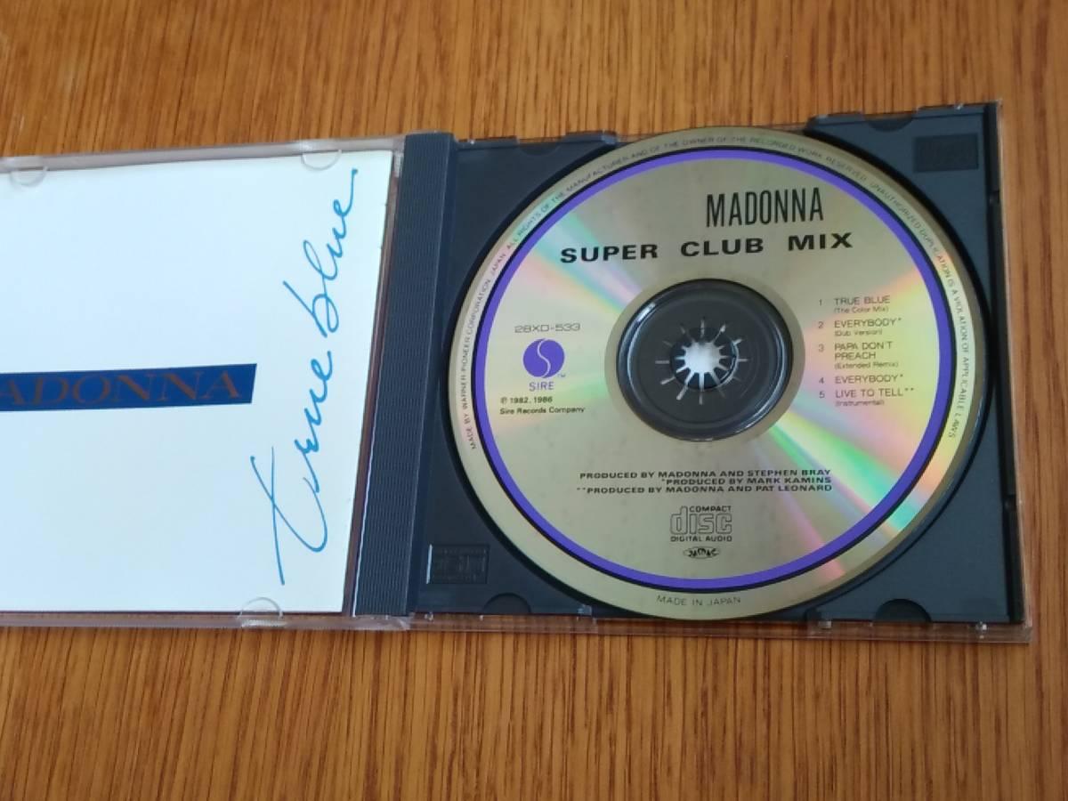 7808r 初版帯付CD 28XD-533 MADONNA/True Blue Super Club Mix マドンナ トゥルー・ブルー スーパー・クラブ・ミックス_画像3