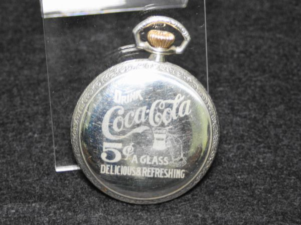 ELGIN エルジン コカ・コーラ デザイン 動作品 アンティーク 懐中時計 1914年 オープンフェース 16S POCKET WATCH Coca Cola Coke_画像2