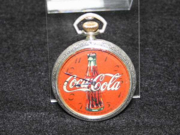 ELGIN エルジン コカ・コーラ デザイン 動作品 アンティーク 懐中時計 1914年 オープンフェース 16S POCKET WATCH Coca Cola Coke