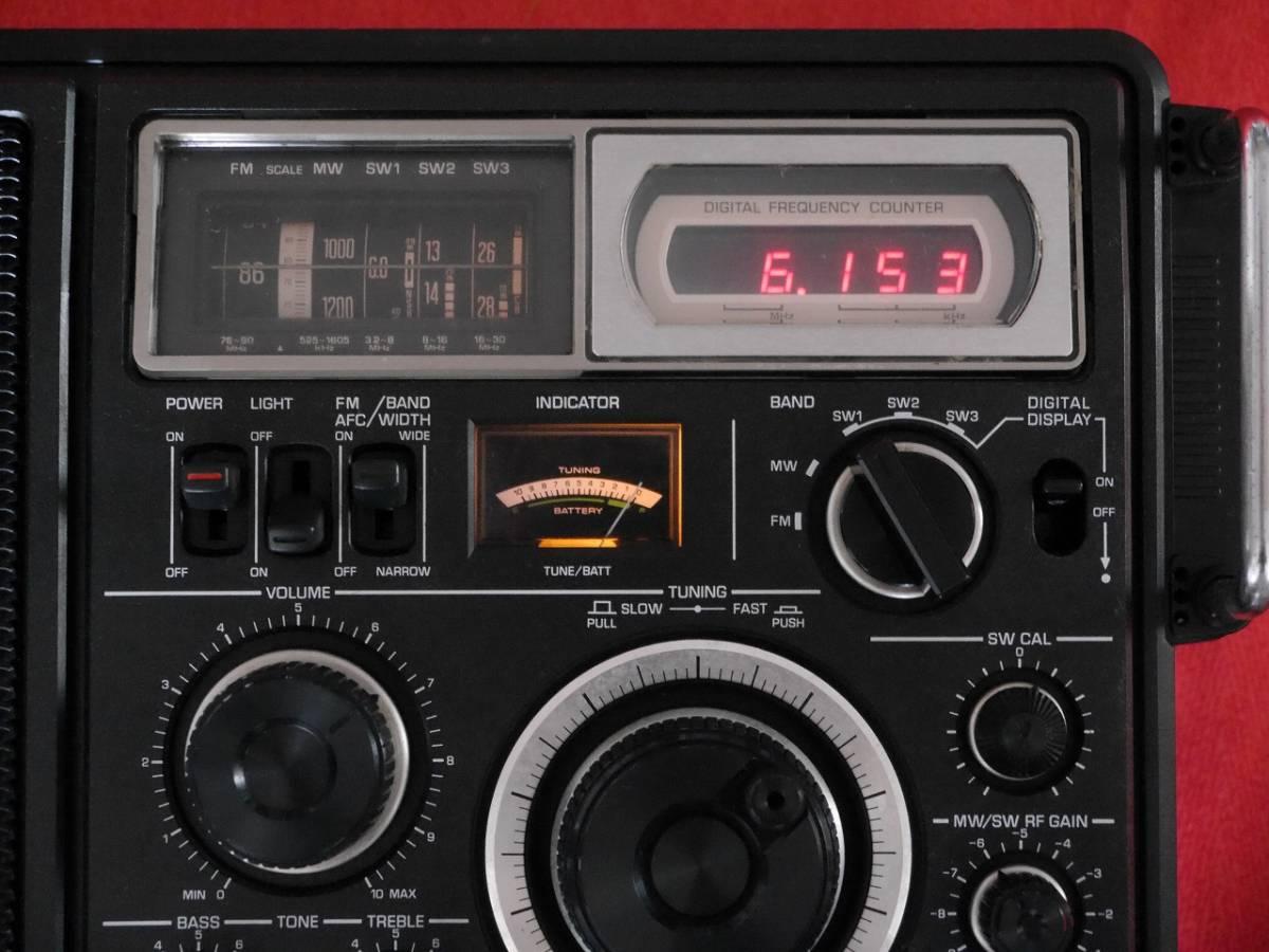 昭和レトロ ナショナル RF-2800 MW/FM/SW1/SW2/SW3/ 5バンド BCL ラジオFMは受信動作確認済 【ジャンク品】_画像2