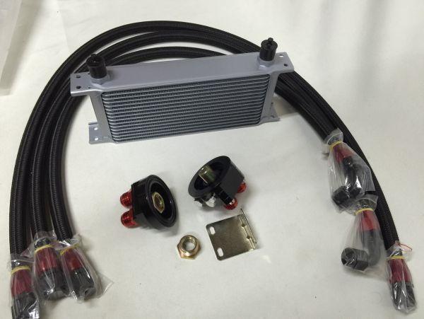 保証付 オイルクーラー 13段 キット ロードスター AZ-1 RX7 RX8 FC3S FD3S コスモ 13B 20B アテンザ アクセラ デミオ 移動式も追加可_画像2