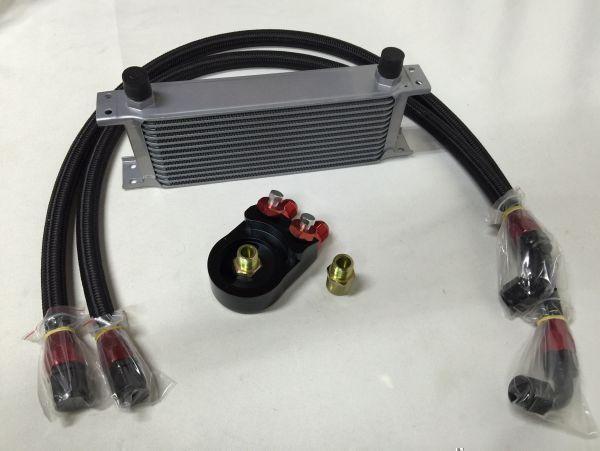 保証付 オイルクーラー 13段 キット ロードスター AZ-1 RX7 RX8 FC3S FD3S コスモ 13B 20B アテンザ アクセラ デミオ 移動式も追加可_画像1