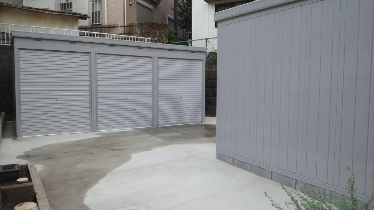 松戸市新作バイクガレージ_バイクガレージの全景です