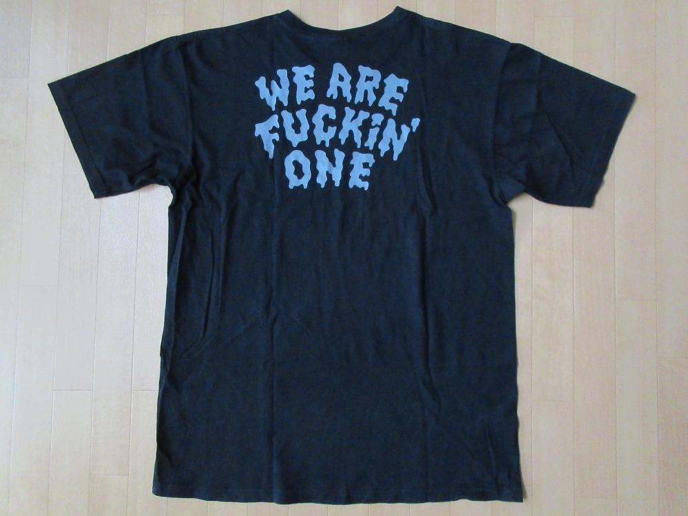 ピザオブデス レコーズ WE ARE FUCKiN' ONE Tシャツ L 黒 AIR JAM 2011 PIZZA OF DEATH RECORDS KEN YOKOYAMA 横山健 Hi-STANDARD ハイスタ