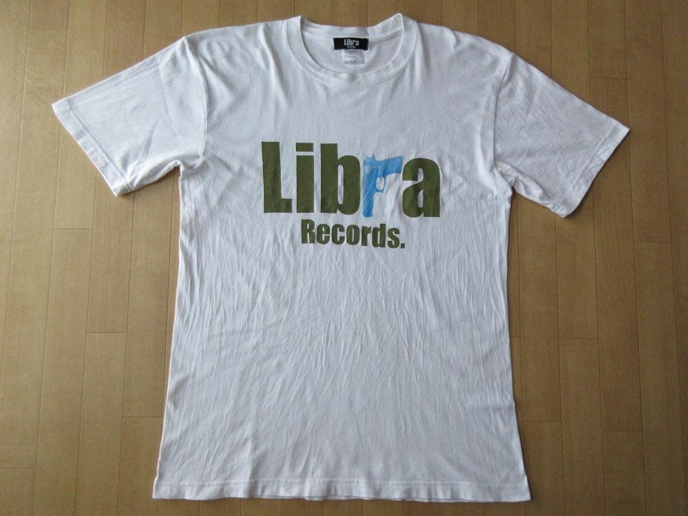 Libra Records ロゴ Tシャツ L 白 ライブラレコード MSC 漢 TABOO1 PRIMAL JUSWANNA 太華 晋平太 フリースタイルダンジョン 日本語ラップ