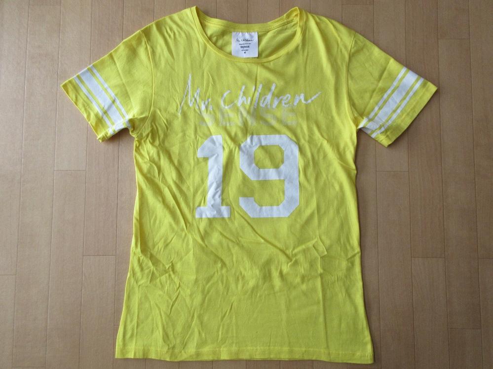 日本製 Mr.Children STADIUM TOUR 2011 SENSE in the field Tシャツ M イエロー系 ミスターチルドレン センス ミスチル 桜井和寿 小林武史