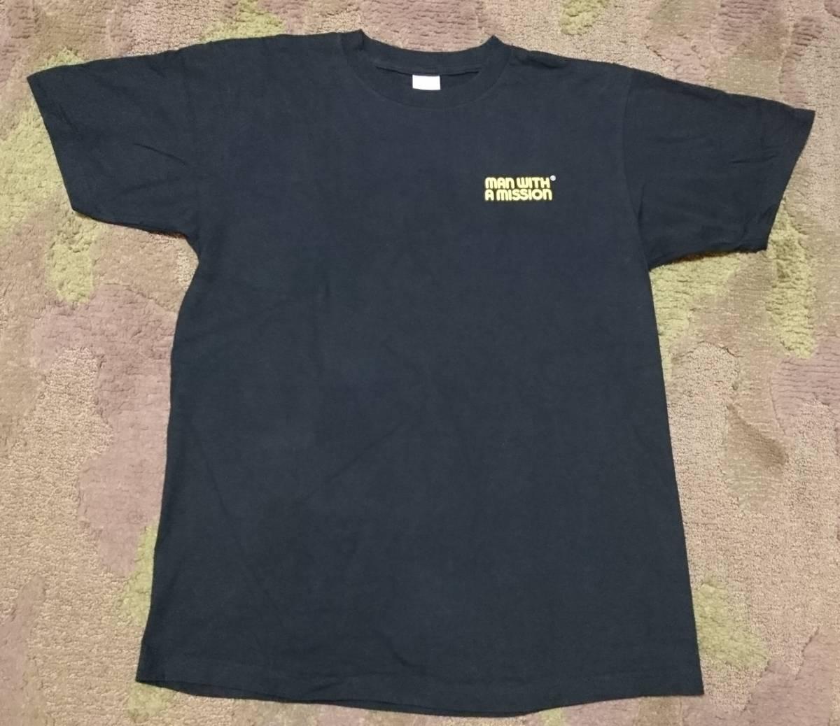 【完売品・希少】2013 MAN WITH A MISSION マンウィズ ☆ パウエル・ペラルタ のぞきBONES風・リッパー風Tシャツ(Lサイズ) ライブグッズの画像
