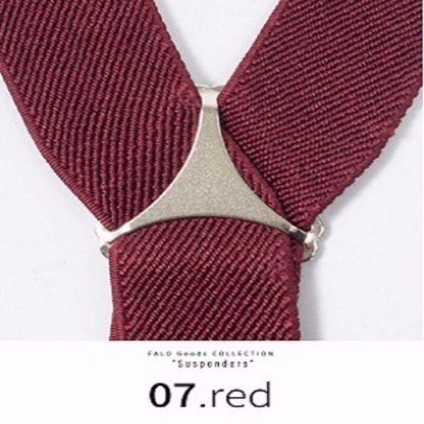 サスペンダー Y 25ミリ 吊りバンド レディース メンズフォーマル ダンス 07.red