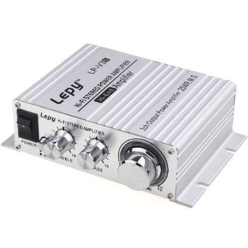 Lepy ステレオアンプ LP-V3S 【BOSE社パワーIC使用】 シルバー