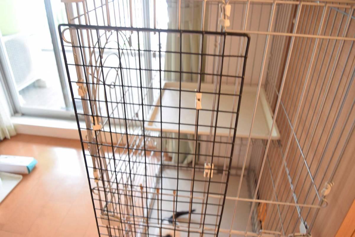 小動物用ゲージ2段 犬 猫 ウサギなど 幅約90×奥行き約60×高さ約120cm_画像3