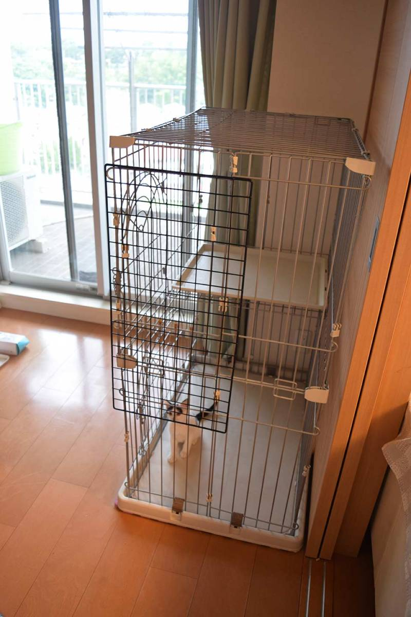 小動物用ゲージ2段 犬 猫 ウサギなど 幅約90×奥行き約60×高さ約120cm_画像2