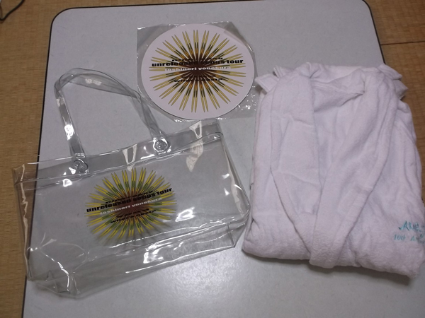 ▽ 米倉利紀 2003 【 Aragosta バスローブ + バッグ + 未開封円形うちわ 】 美品♪
