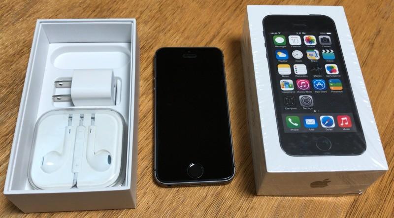 ◆美品 iPhone5S 64GB スペースグレイ 判定○ 難あり